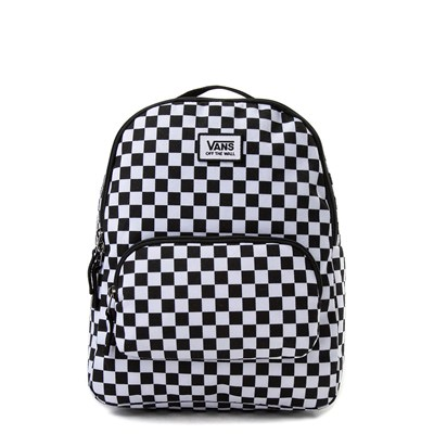 Main view of Vans Off the Wall Mini Checkered Backpack - Black / White