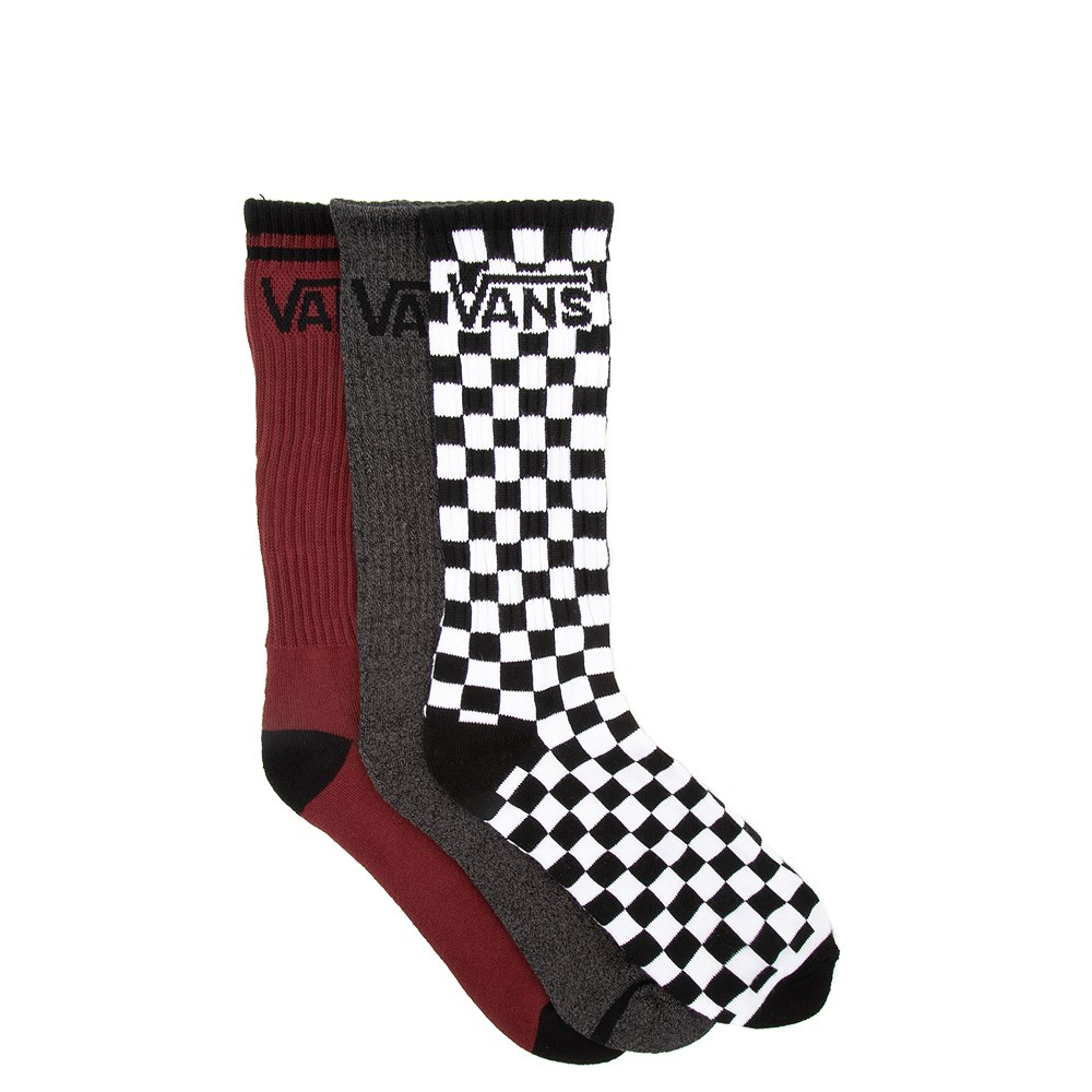 Mens Vans Logo Crew Socks 3 Pack - Multi