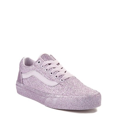 Alternate view of Youth Lavender Vans Old Skool Glitter Skate Shoe
