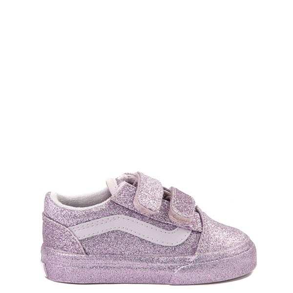 Default view of Vans Old Skool V Glitter Skate Shoe - Baby / Toddler - Lavender
