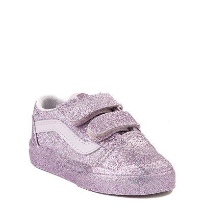 Alternate view of Vans Old Skool V Glitter Skate Shoe - Baby / Toddler - Lavender