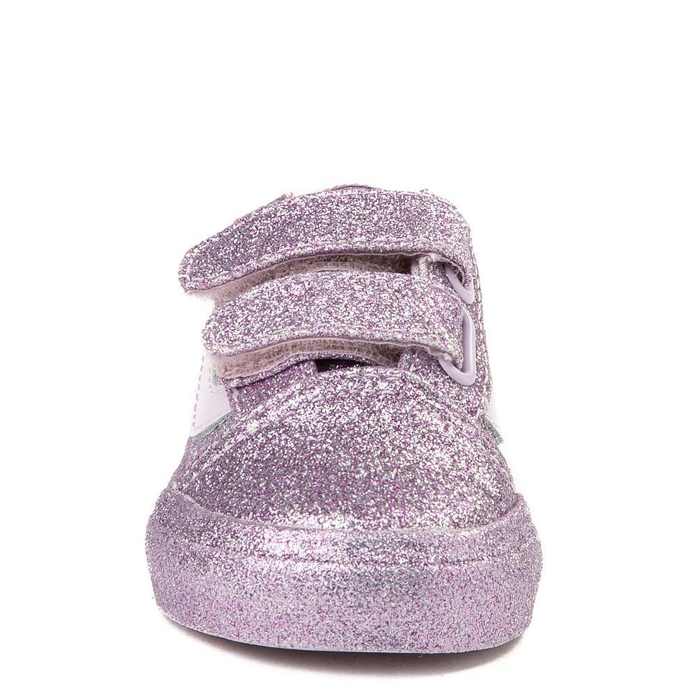 cb9cf07474c5ca Vans Old Skool V Glitter Skate Shoe - Baby   Toddler