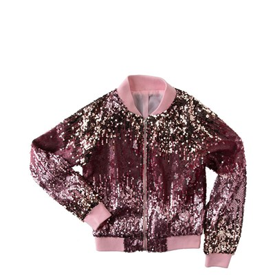 Main view of Sequin Bomber Jacket - Girls Little Kid