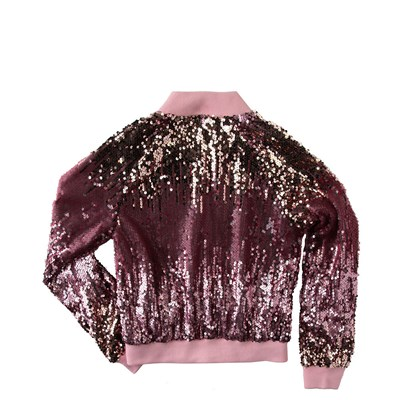 Alternate view of Sequin Bomber Jacket - Girls Little Kid