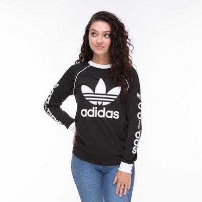 Main view of Womens adidas Trefoil Long Sleeve Tee
