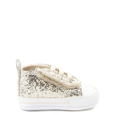 Main view of Infant Converse Chuck Taylor First Star Glitter Sneaker