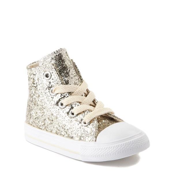 alternate view Converse Chuck Taylor All Star Hi Glitter Sneaker - Baby / ToddlerALT1B