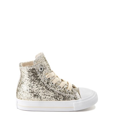 Main view of Converse Chuck Taylor All Star Hi Glitter Sneaker - Baby / Toddler
