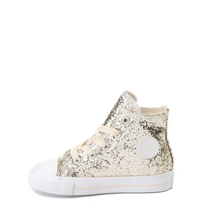 Alternate view of Converse Chuck Taylor All Star Hi Glitter Sneaker - Baby / Toddler