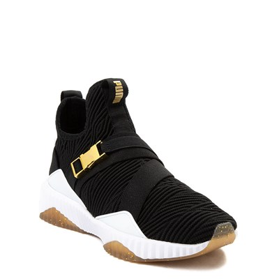 Alternate view of Puma Defy Varsity Mid Athletic Shoe - Big Kid - Black / Gold