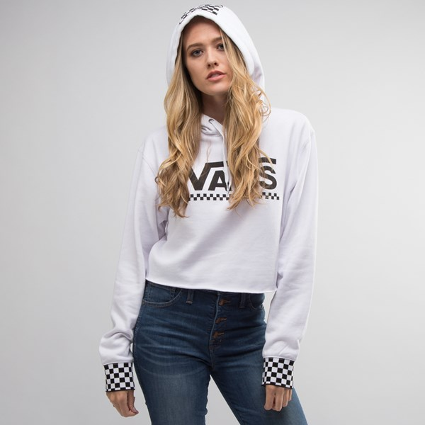 alternate view Womens Vans Checkered Cropped HoodieALT4