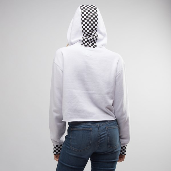 alternate view Womens Vans Checkered Cropped HoodieALT5