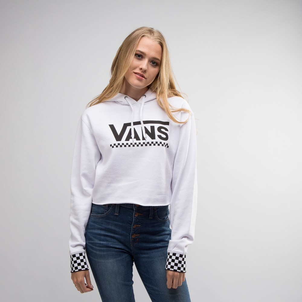 Womens Vans Checkered Cropped Hoodie