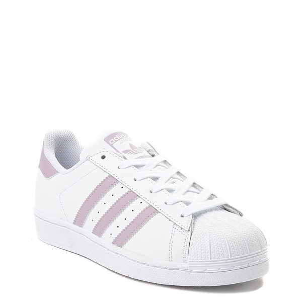 alternate view Womens adidas Superstar Athletic Shoe - White / MauveALT1