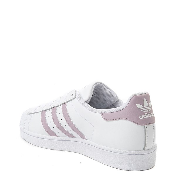 alternate view Womens adidas Superstar Athletic Shoe - White / MauveALT2