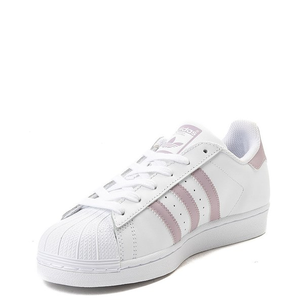 alternate view Womens adidas Superstar Athletic Shoe - White / MauveALT3