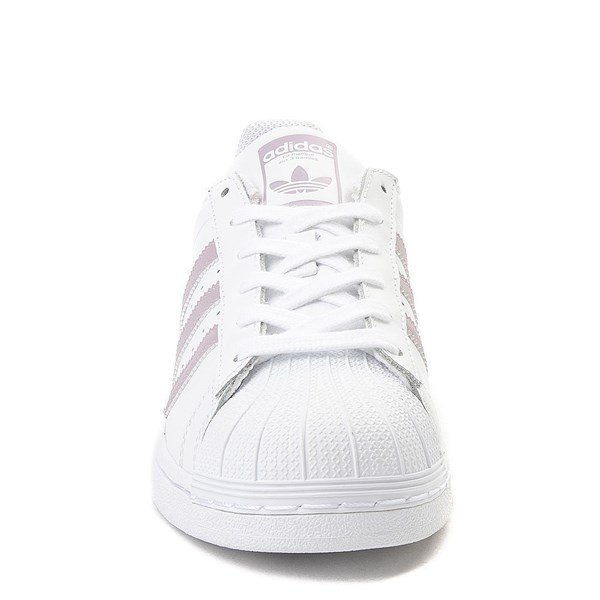 alternate view Womens adidas Superstar Athletic Shoe - White / MauveALT4