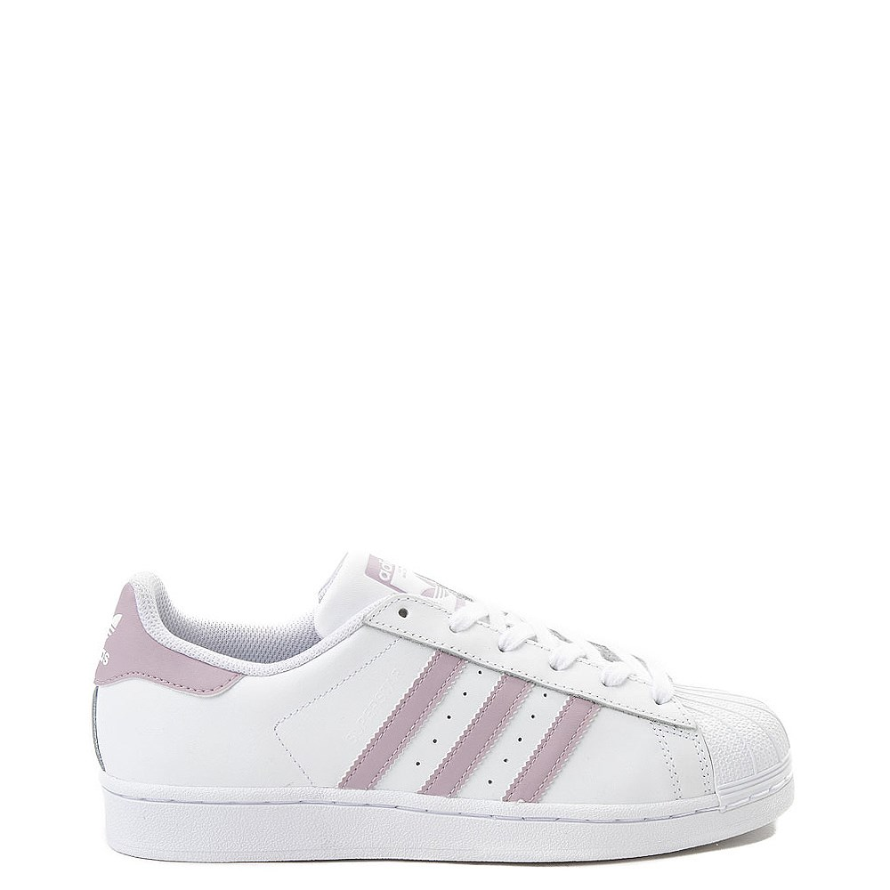 Womens adidas Superstar Athletic Shoe White Mauve