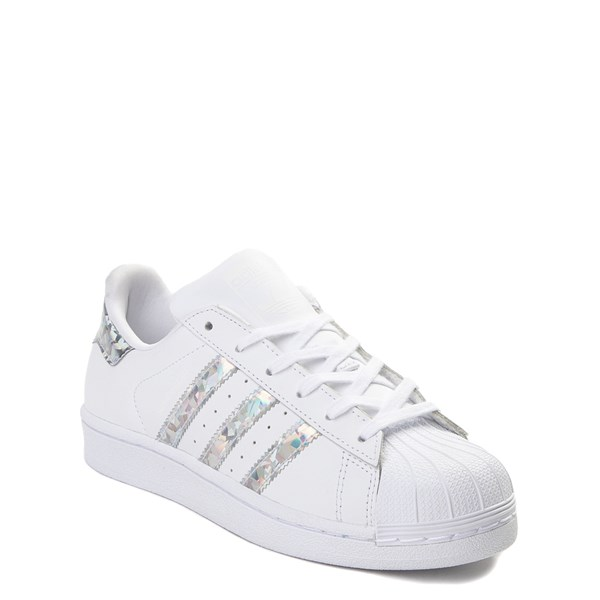 alternate view adidas Superstar Athletic Shoe - Big Kid - White / PrismaticALT1