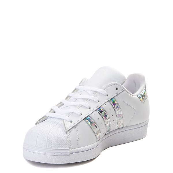 alternate view adidas Superstar Athletic Shoe - Big Kid - White / PrismaticALT3