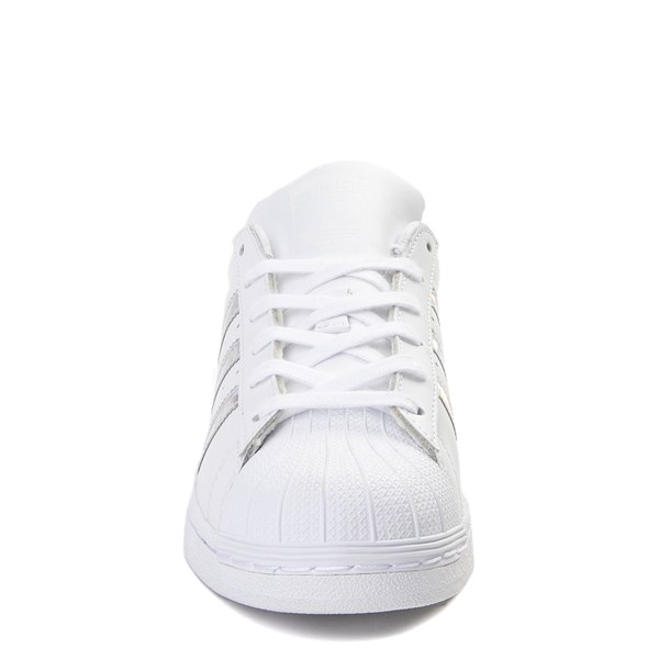 alternate view adidas Superstar Athletic Shoe - Big Kid - White / PrismaticALT4