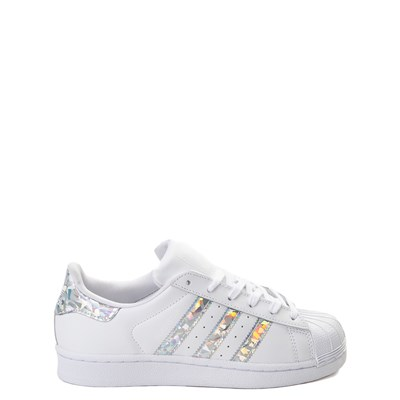 Main view of adidas Superstar Athletic Shoe - Big Kid - White / Prismatic