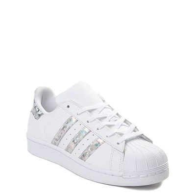 Alternate view of adidas Superstar Athletic Shoe - Big Kid - White / Prismatic