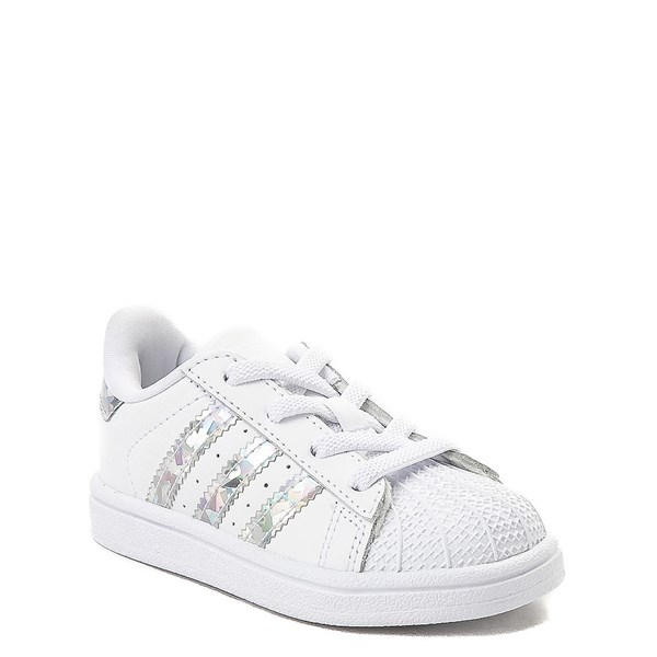 alternate view adidas Superstar Athletic Shoe - Baby / Toddler - White / PrismaticALT1