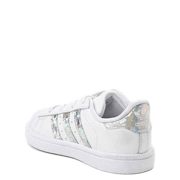 alternate view adidas Superstar Athletic Shoe - Baby / Toddler - White / PrismaticALT2