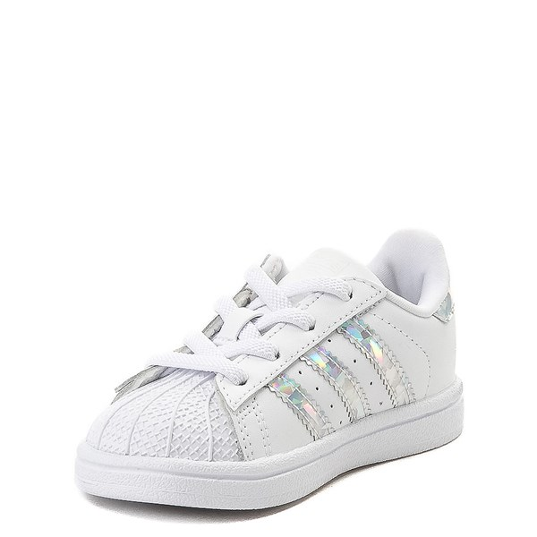 alternate view adidas Superstar Athletic Shoe - Baby / Toddler - White / PrismaticALT3