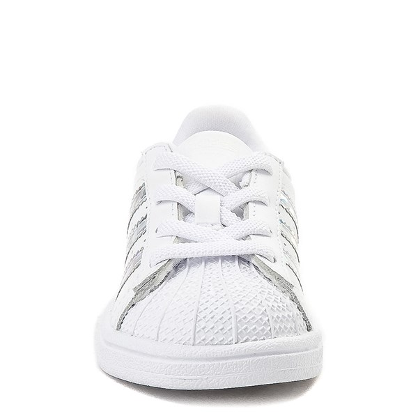 alternate view adidas Superstar Athletic Shoe - Baby / Toddler - White / PrismaticALT4