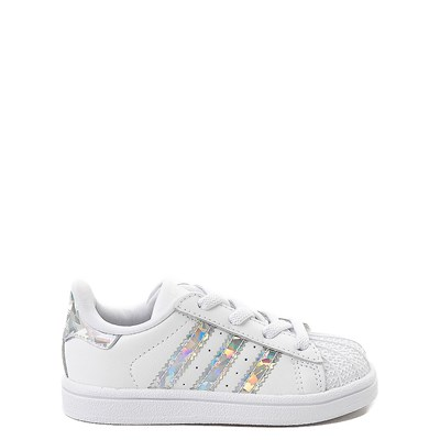Main view of adidas Superstar Athletic Shoe - Baby / Toddler - White / Prismatic