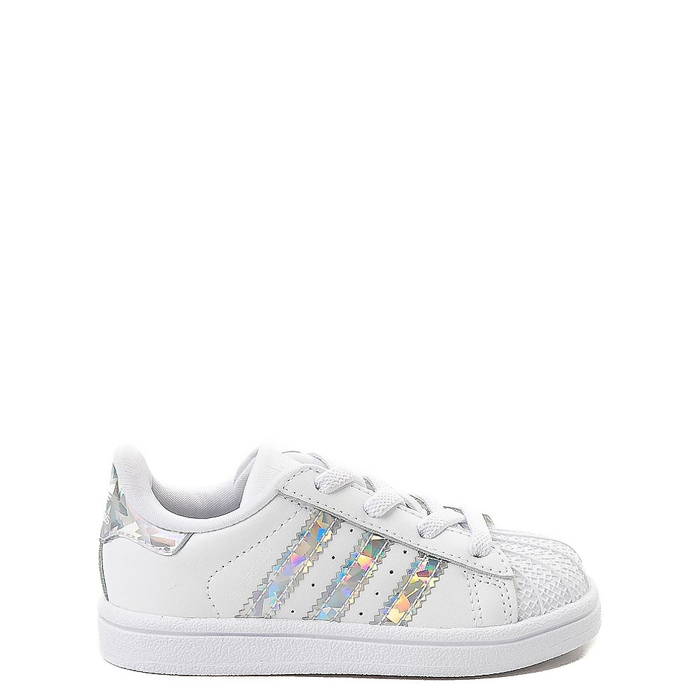 adidas Superstar Athletic Shoe - Baby / Toddler - White / Prismatic