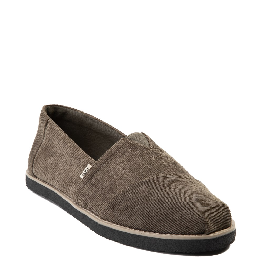 TOMS Mens Classic Crepe Slip-On Casual Shoe (Olive)