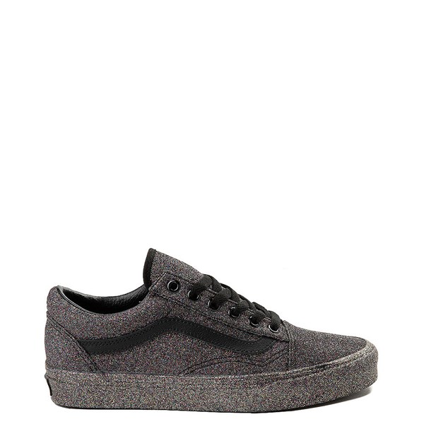 Default view of Vans Old Skool Glitter Skate Shoe - Black Monochrome