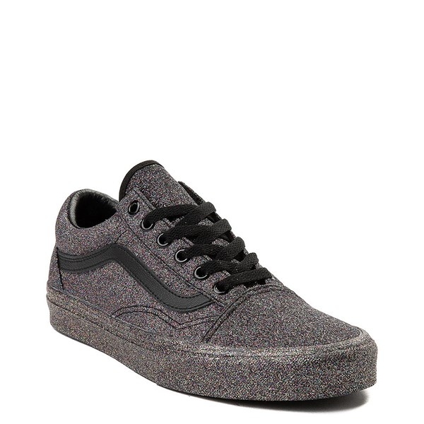 Alternate view of Vans Old Skool Glitter Skate Shoe - Black Monochrome