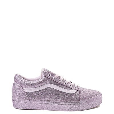 Main view of Vans Old Skool Glitter Skate Shoe - Lavender