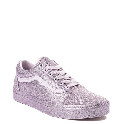 Alternate view of Vans Old Skool Glitter Skate Shoe - Lavender