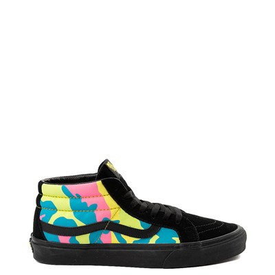 Main view of Vans Sk8 Mid Neon Camo Skate Shoe