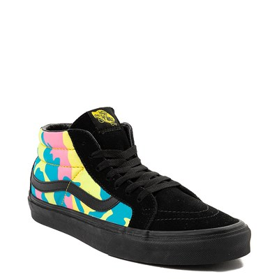 Alternate view of Vans Sk8 Mid Neon Camo Skate Shoe