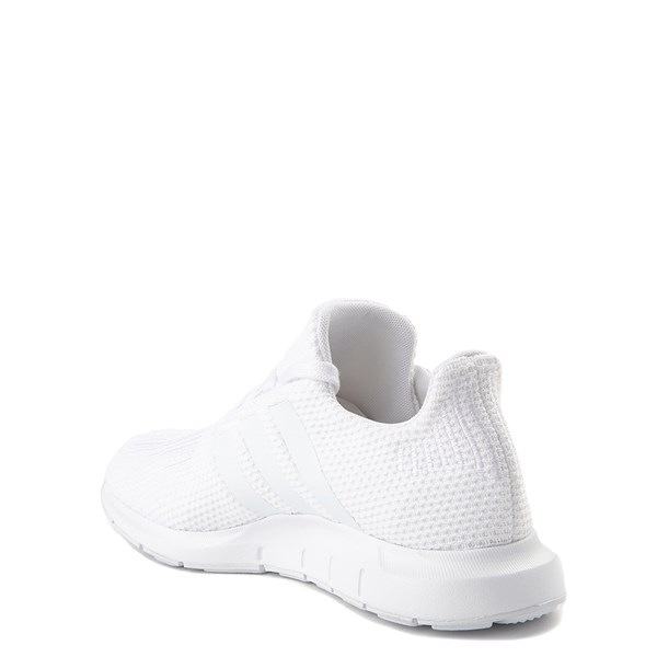 alternate view adidas Swift Run Athletic Shoe - Big Kid - White MonochromeALT2