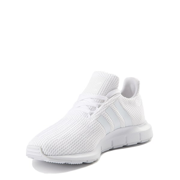alternate view adidas Swift Run Athletic Shoe - Big Kid - White MonochromeALT3