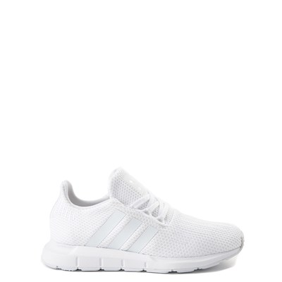 Main view of adidas Swift Run Athletic Shoe - Big Kid - White Monochrome