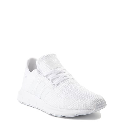 Alternate view of adidas Swift Run Athletic Shoe - Big Kid - White Monochrome