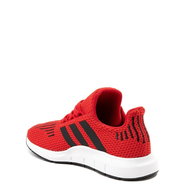 alternate view adidas Swift Run Athletic Shoe - Little Kid - Red / BlackALT2