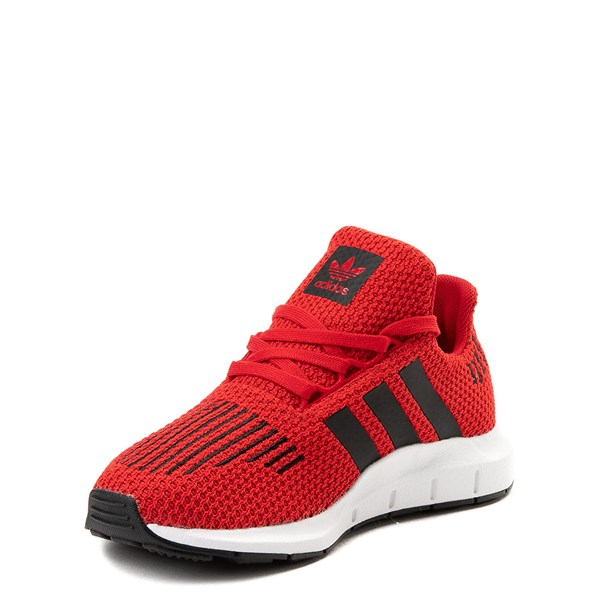 alternate view adidas Swift Run Athletic Shoe - Little Kid - Red / BlackALT3