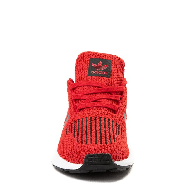 alternate view adidas Swift Run Athletic Shoe - Little Kid - Red / BlackALT4