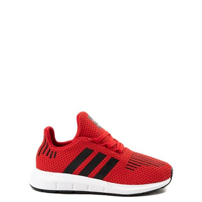 Main view of adidas Swift Run Athletic Shoe - Little Kid - Red / Black