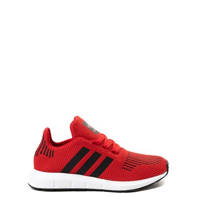 Main view of adidas Swift Run Athletic Shoe - Big Kid - Red / Black