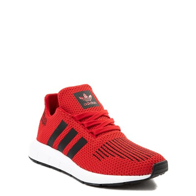 Alternate view of adidas Swift Run Athletic Shoe - Big Kid - Red / Black